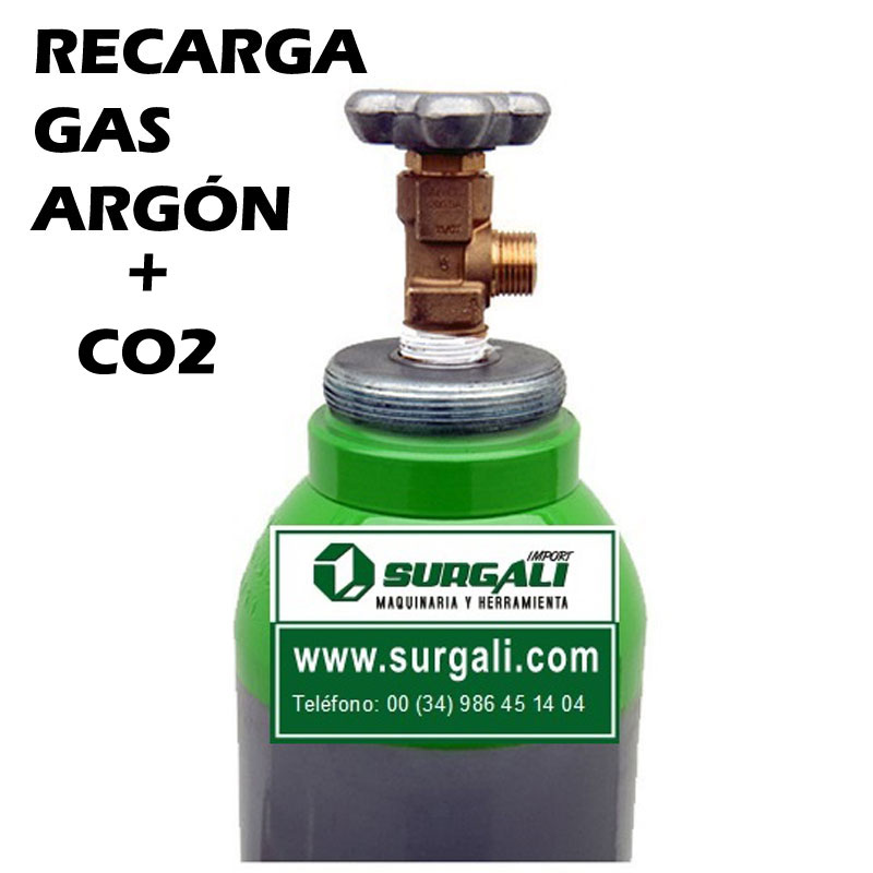 Recarga Gas Argón + CO2