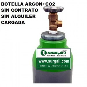 Gas  Argon + Co2   1